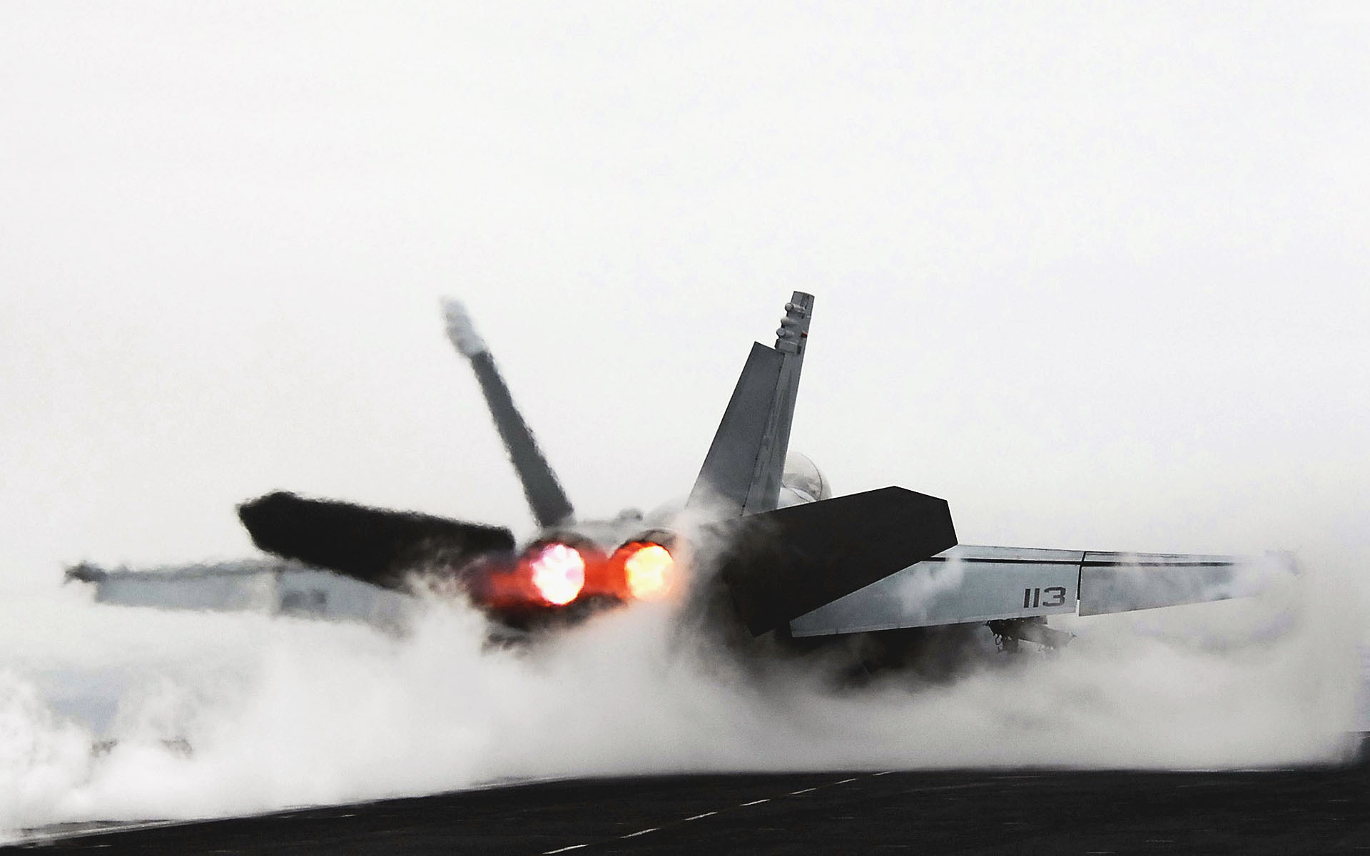 Fighter jet take off