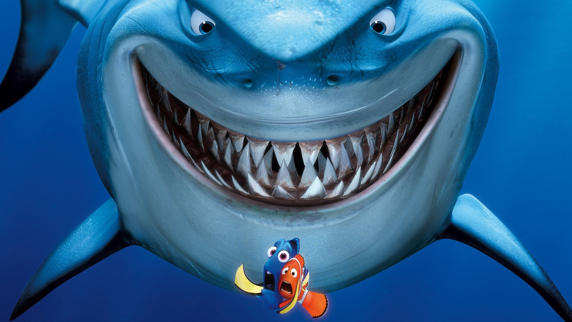 Bruce, Nemo and Dory Finding Nemo