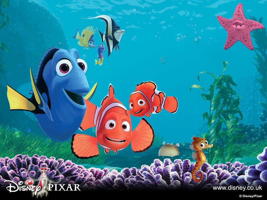 """""""Finding Nemo"""" Pixar cartoon movie desktop wallpaper number 1 (1024 x 768 pixels"""