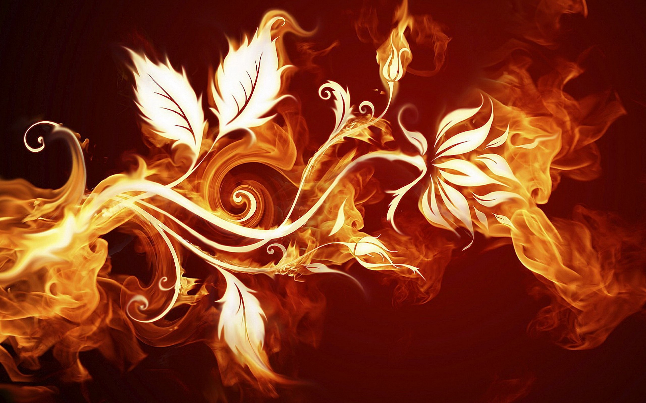 Fire Leaves Art