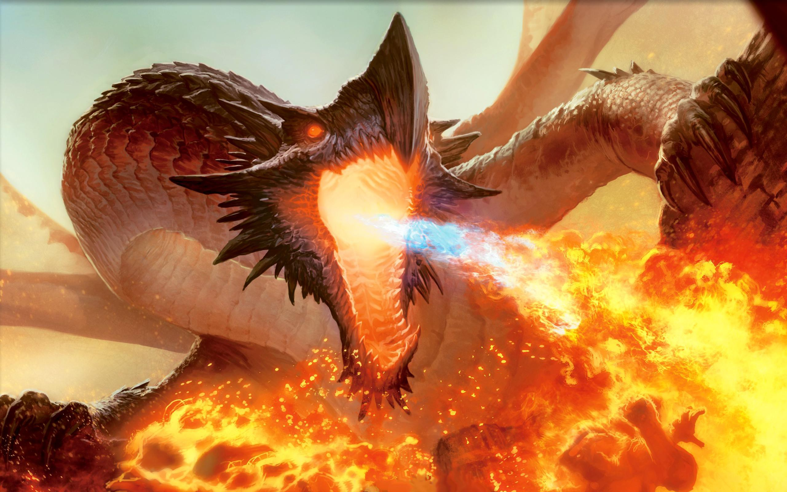 Fire spitting dragon