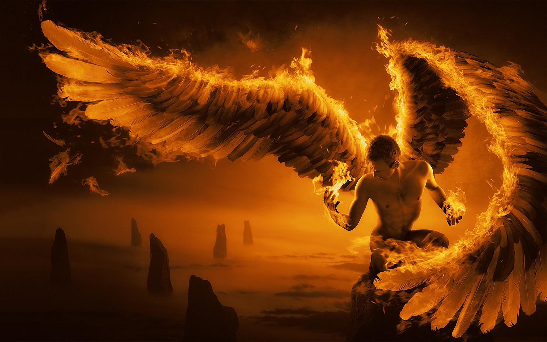 Fire wings art