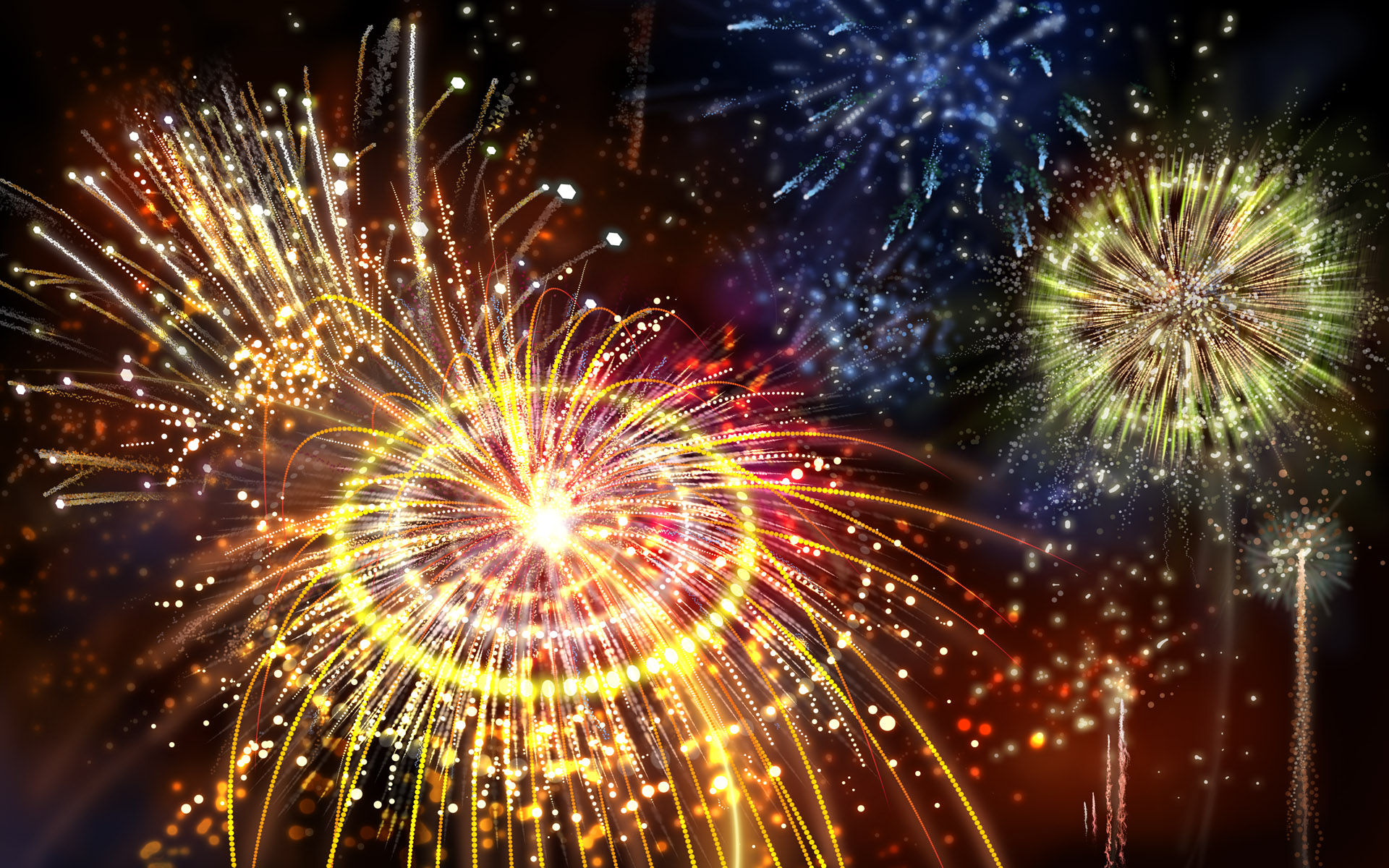 Fireworks 3D Wallpaper