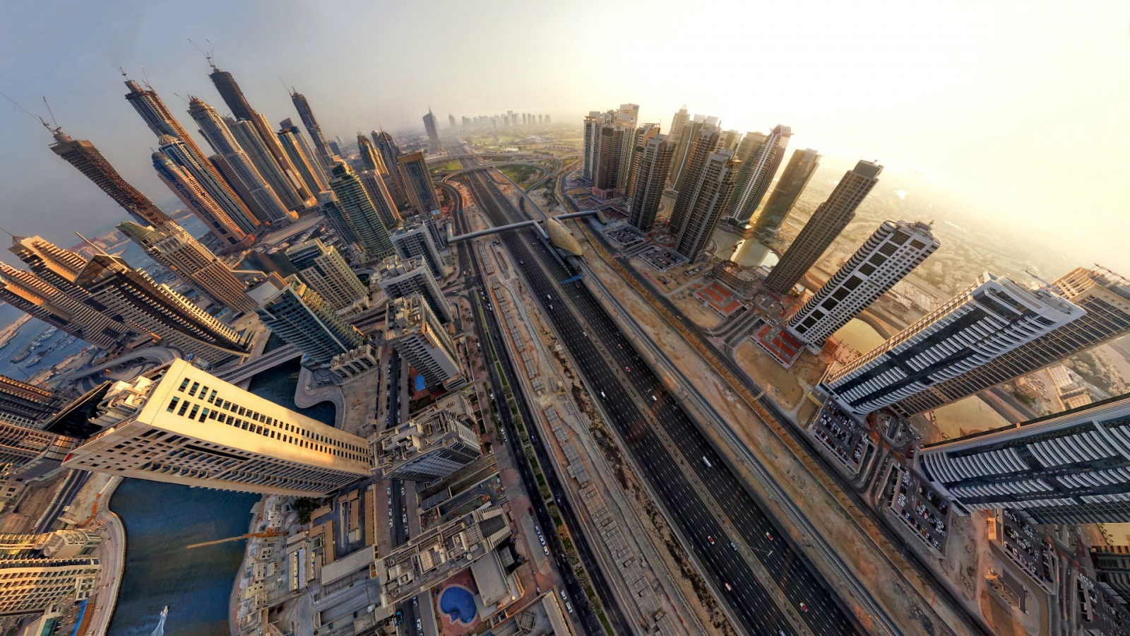 Description: The Wallpaper above is Dubai fisheye view Wallpaper in Resolution 1600x900. Choose your Resolution and Download Dubai fisheye view Wallpaper