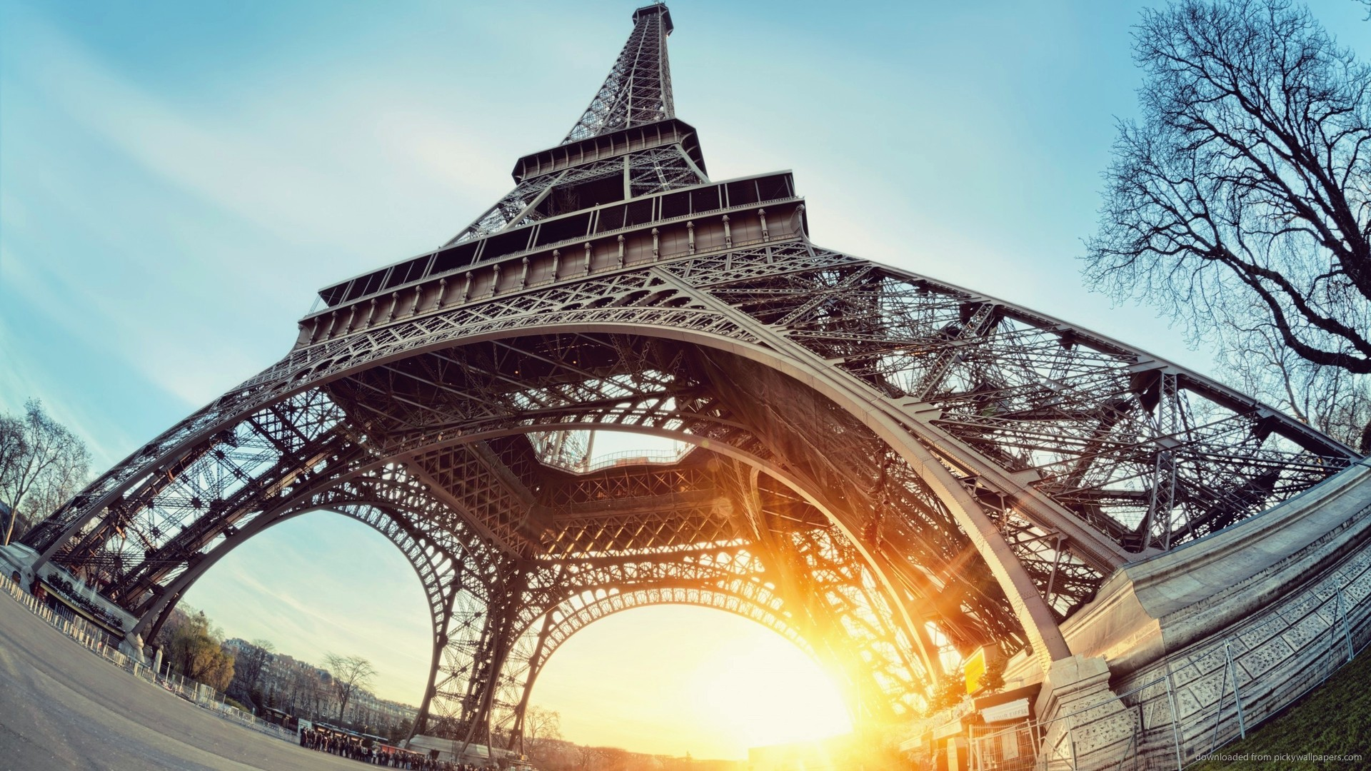 Eiffel Tower Sunrise Fisheye picture