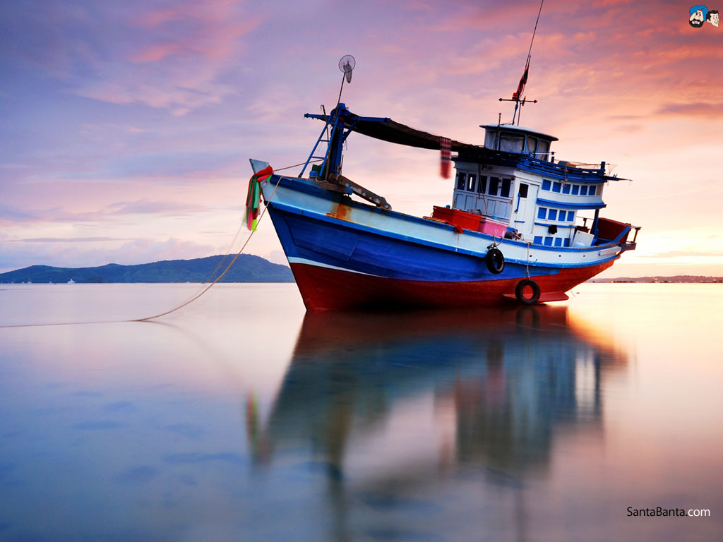Fishing Boat Wallpaper