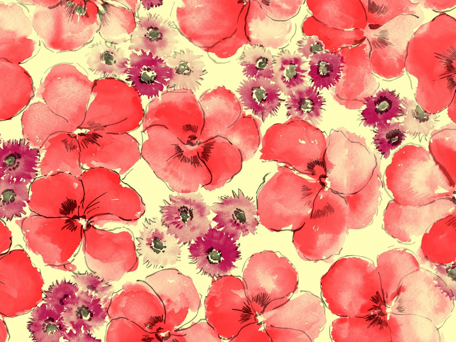 Floral illustrations Design - Floral Patterns - Flower Paintings - Flower Backgrounds 1600*1200 Wallpaper