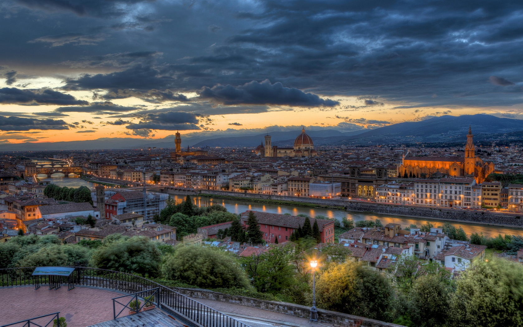 Florence evening Wallpaper in 1680x1050 Widescreen