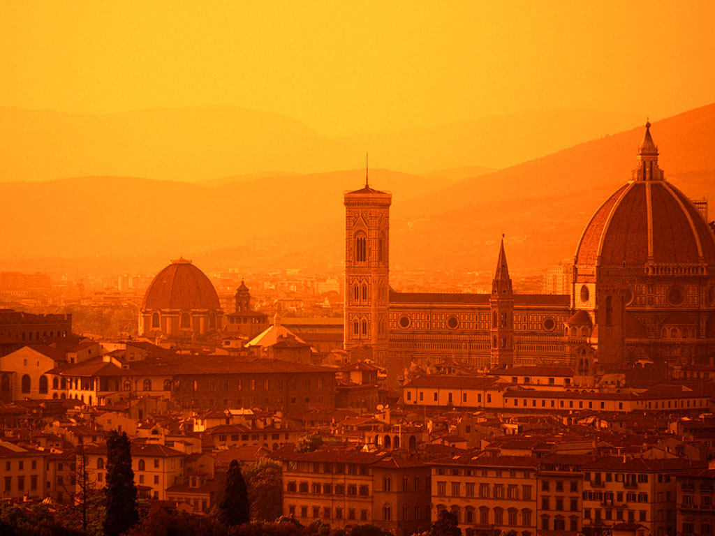 Florence Sunset Wallpaper – 1024 x 768 pixels – 153 kB