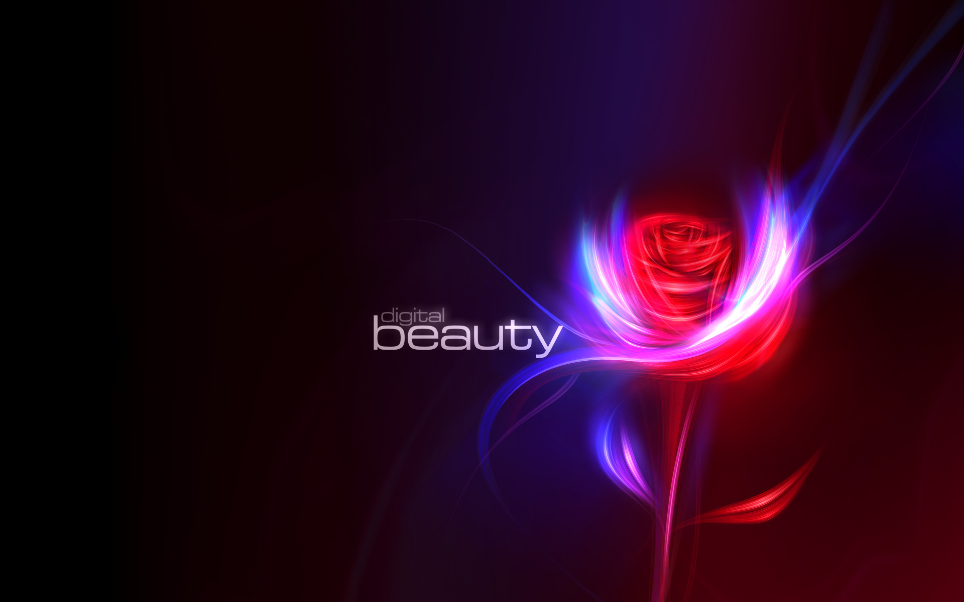 Flower digital beauty