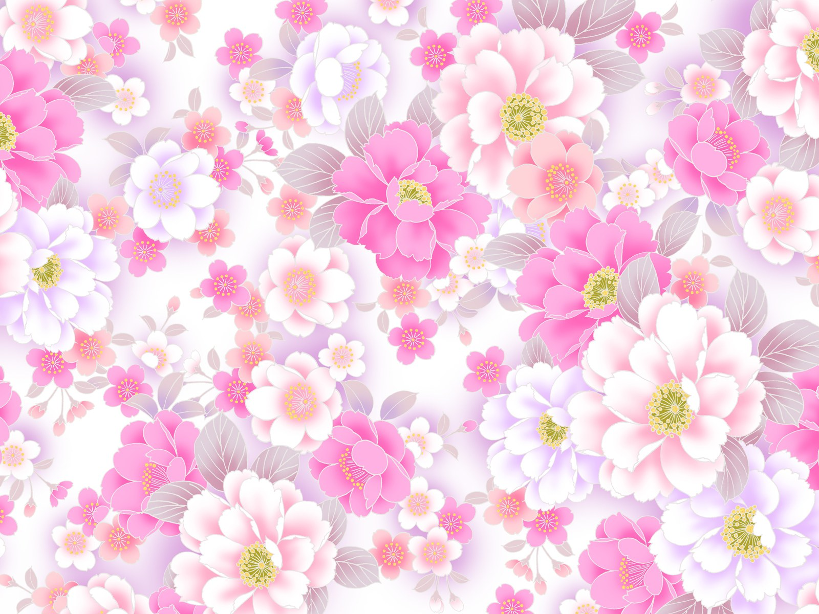 Cute Flower Pattern Wallpaper
