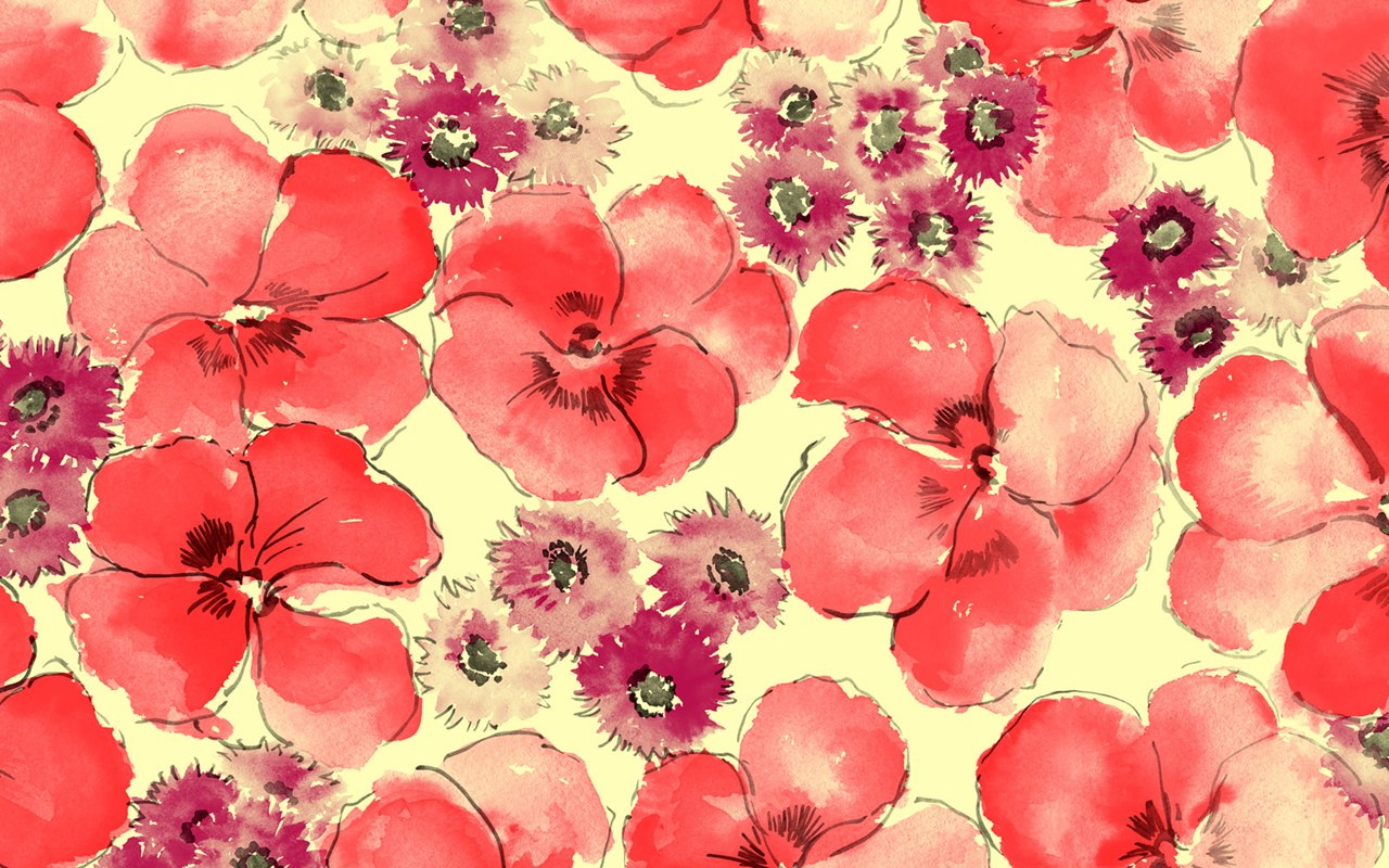 Floral Pattern Wallpaper 1486