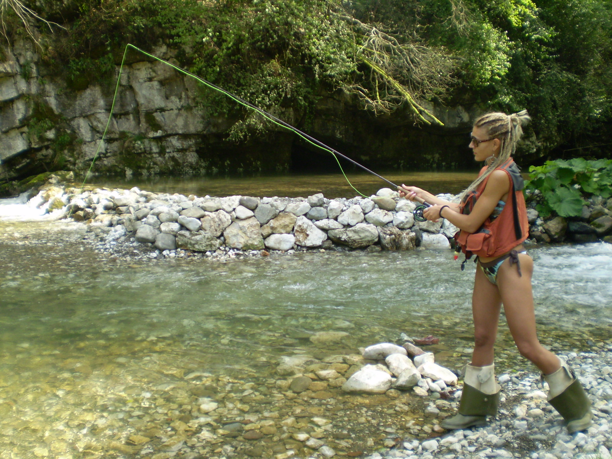 Mary is new to flyfishing