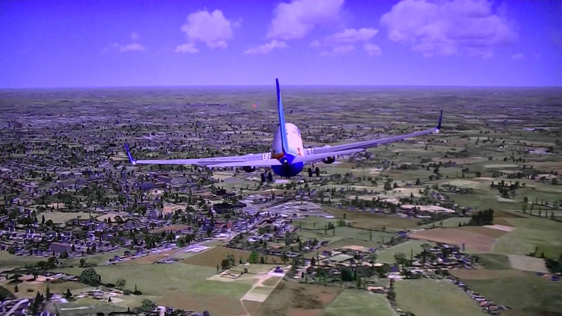 Fly Dubai 737 Landing at Luton FSX