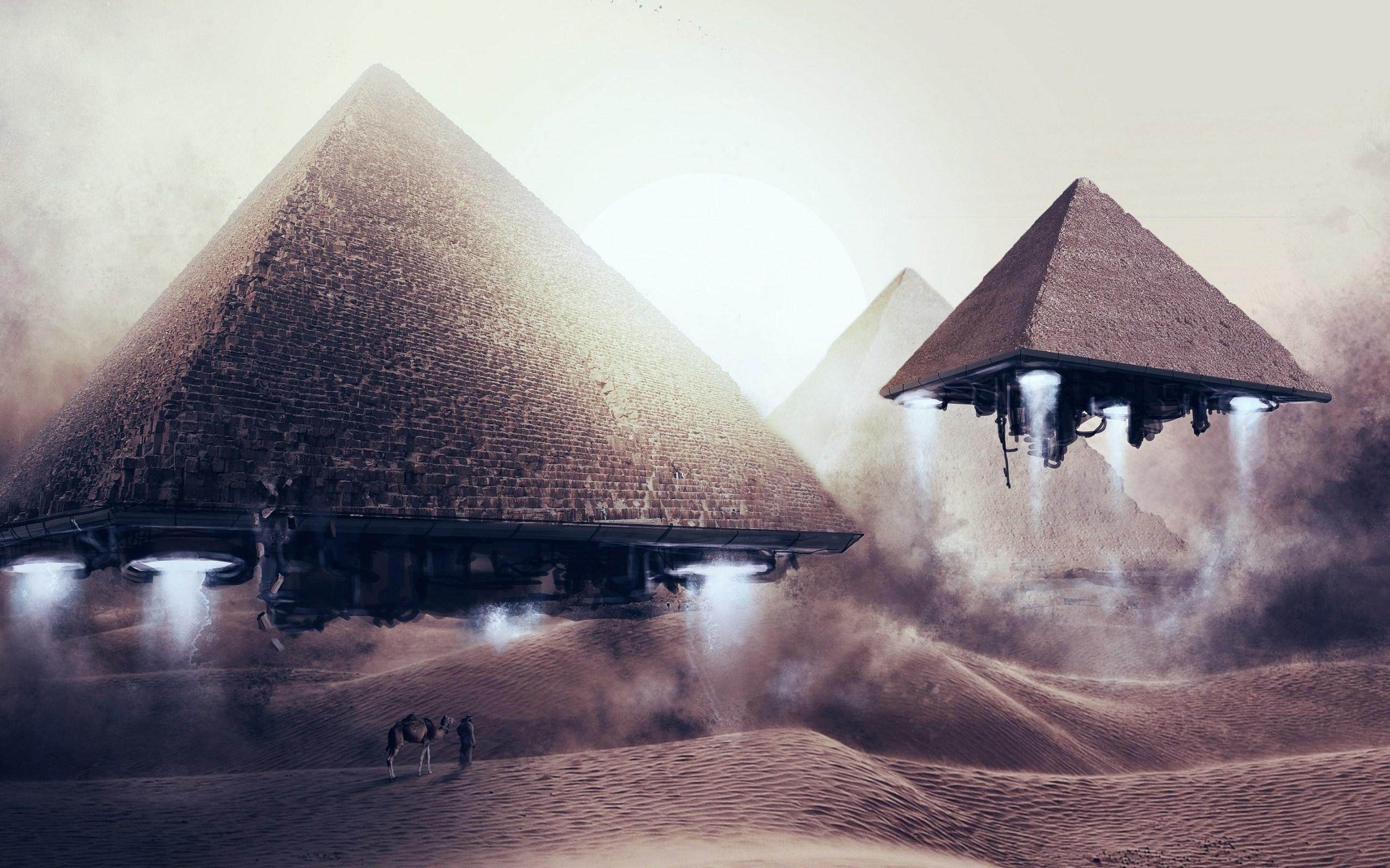 Flying Pyramids Art