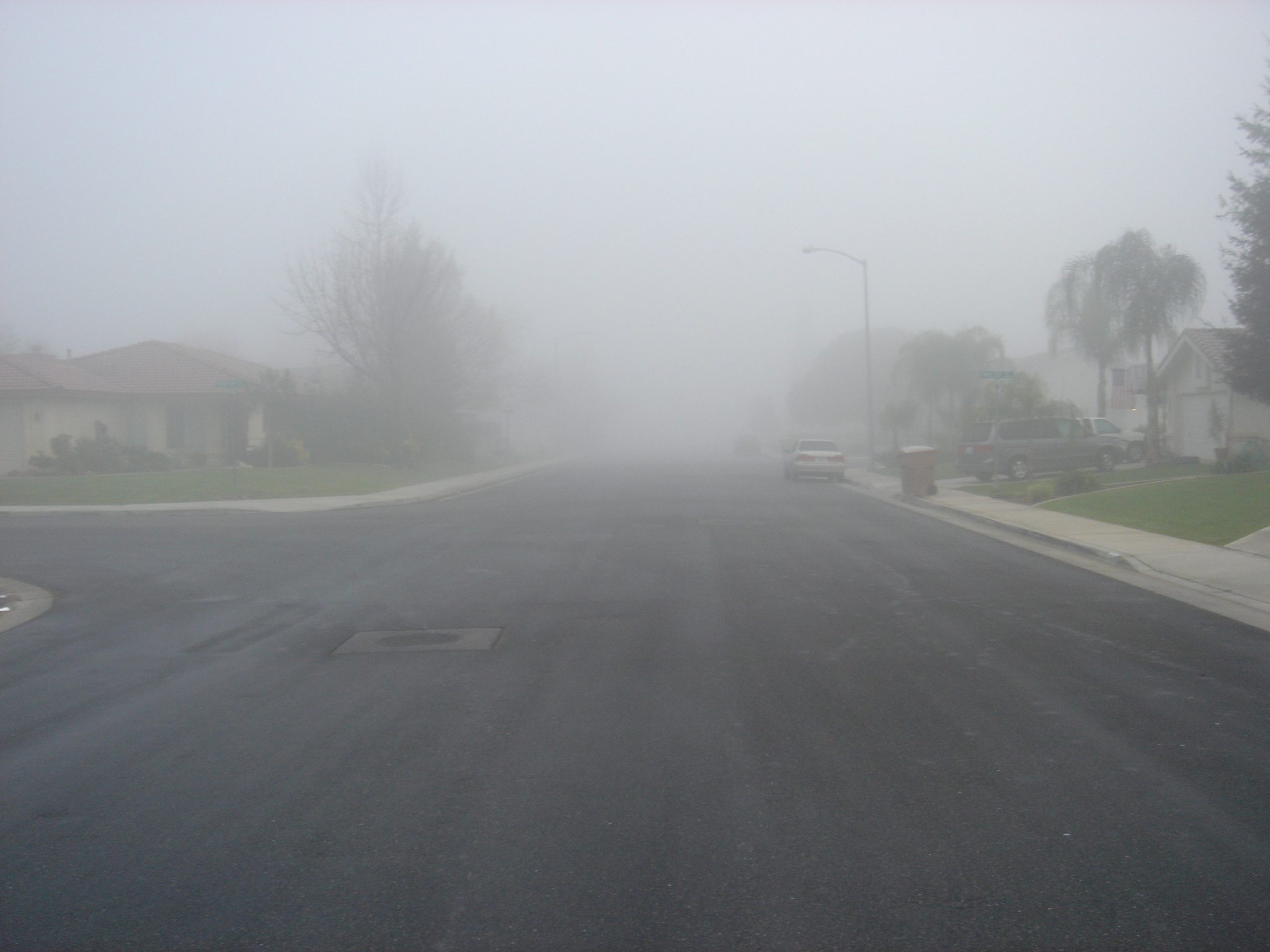Tule fog in Bakersfield, California