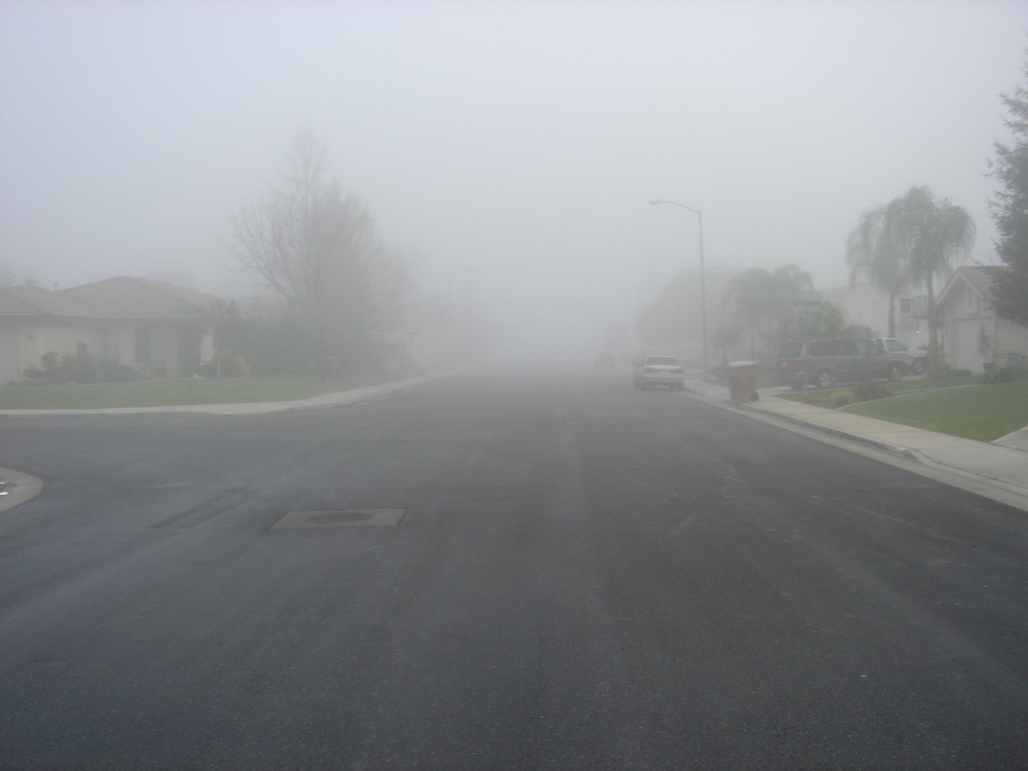 Tule fog in Bakersfield, California