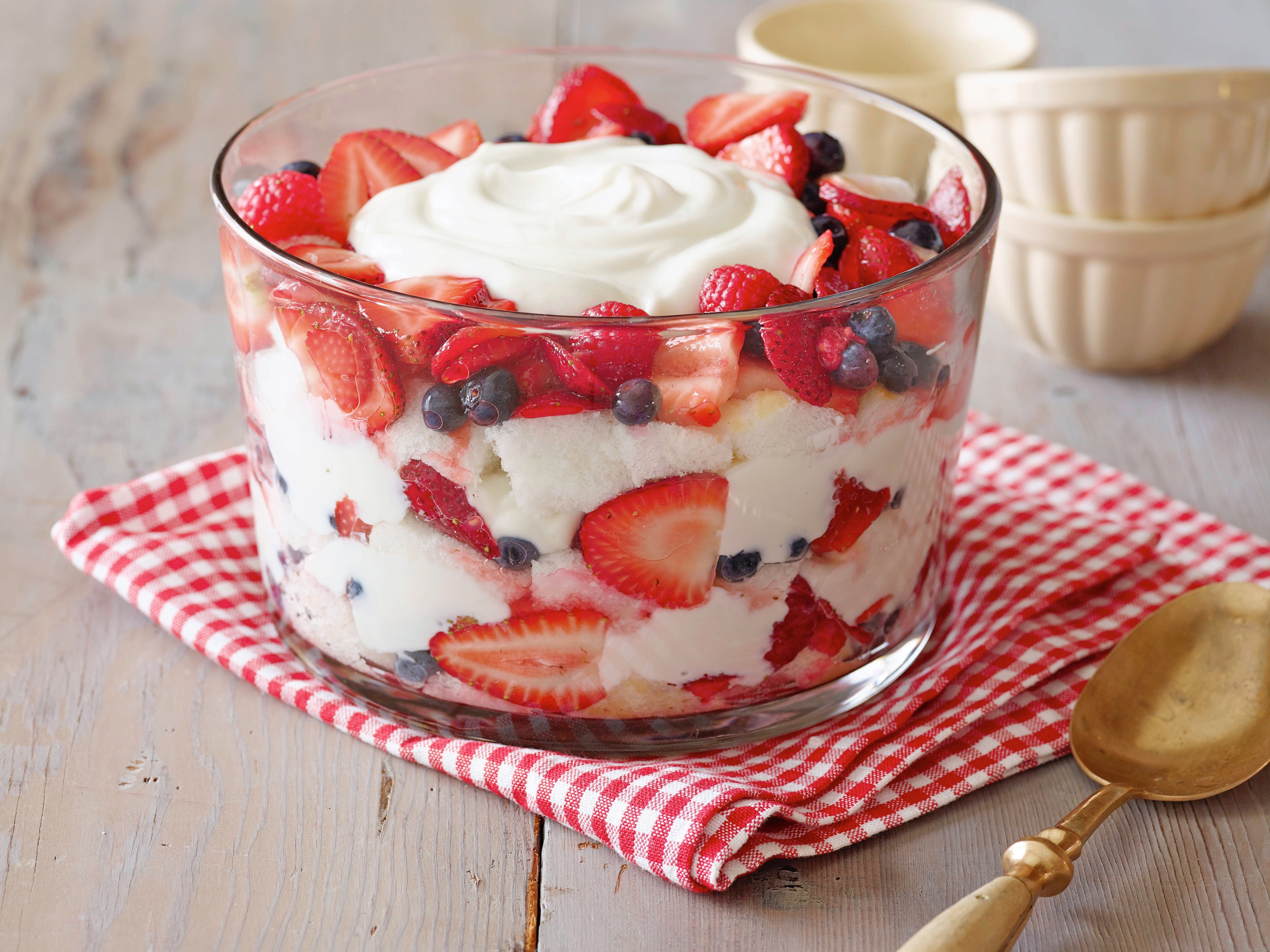 Angel Food Cake and Berry Trifle Recipe : Patrick and Gina Neely : Food Network
