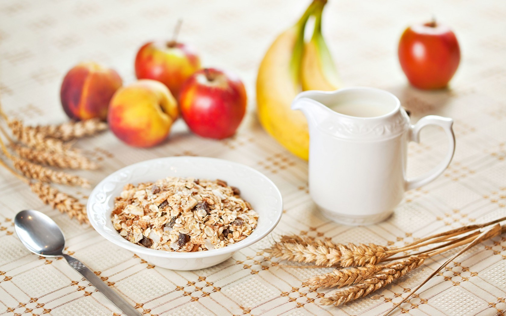 Food Breakfast Apples Bananas Wheat