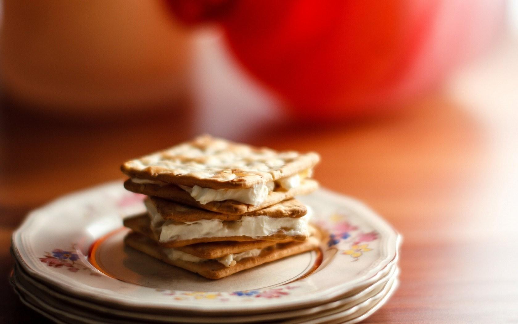 Food Cookies Cream Dessert Photo