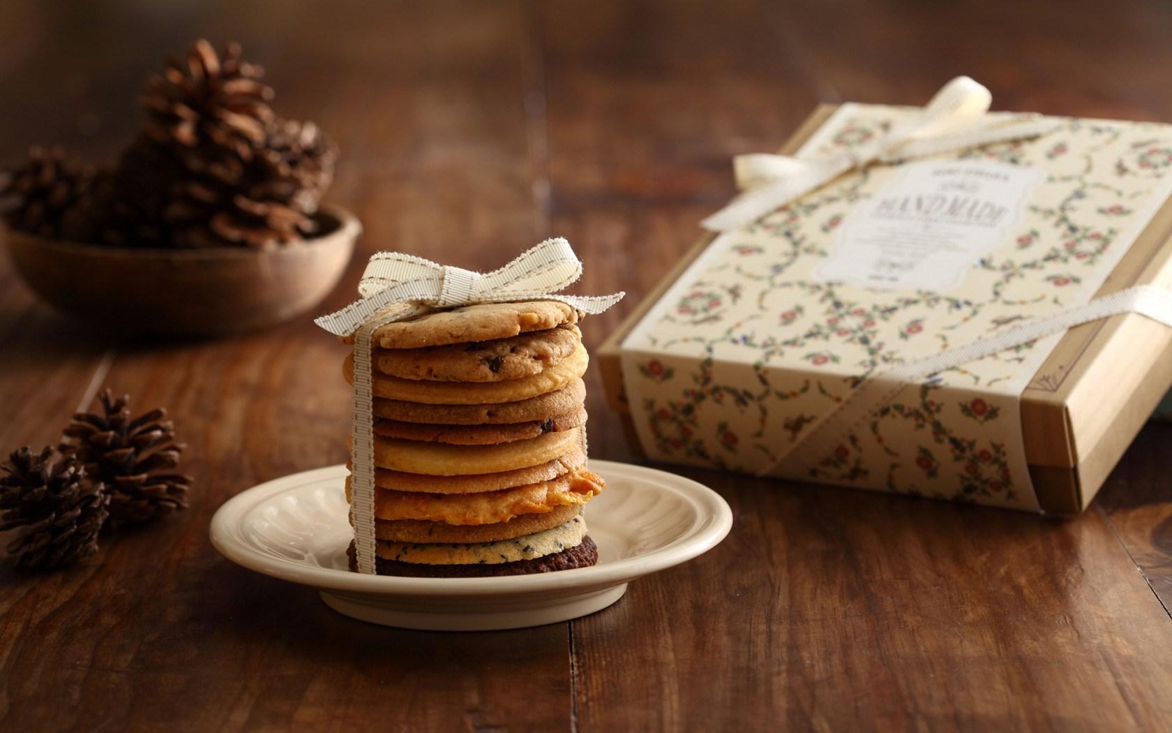 Cookies Ribbon Box Gift Christmas