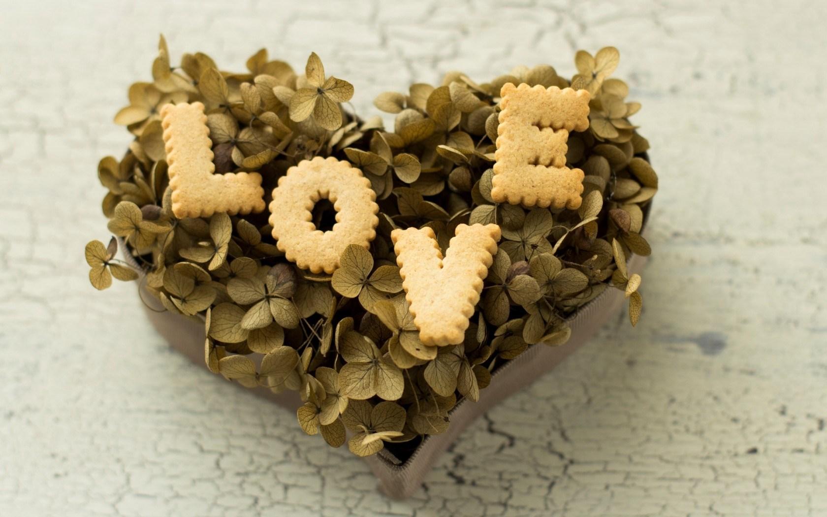 Food Cookies Letters Love