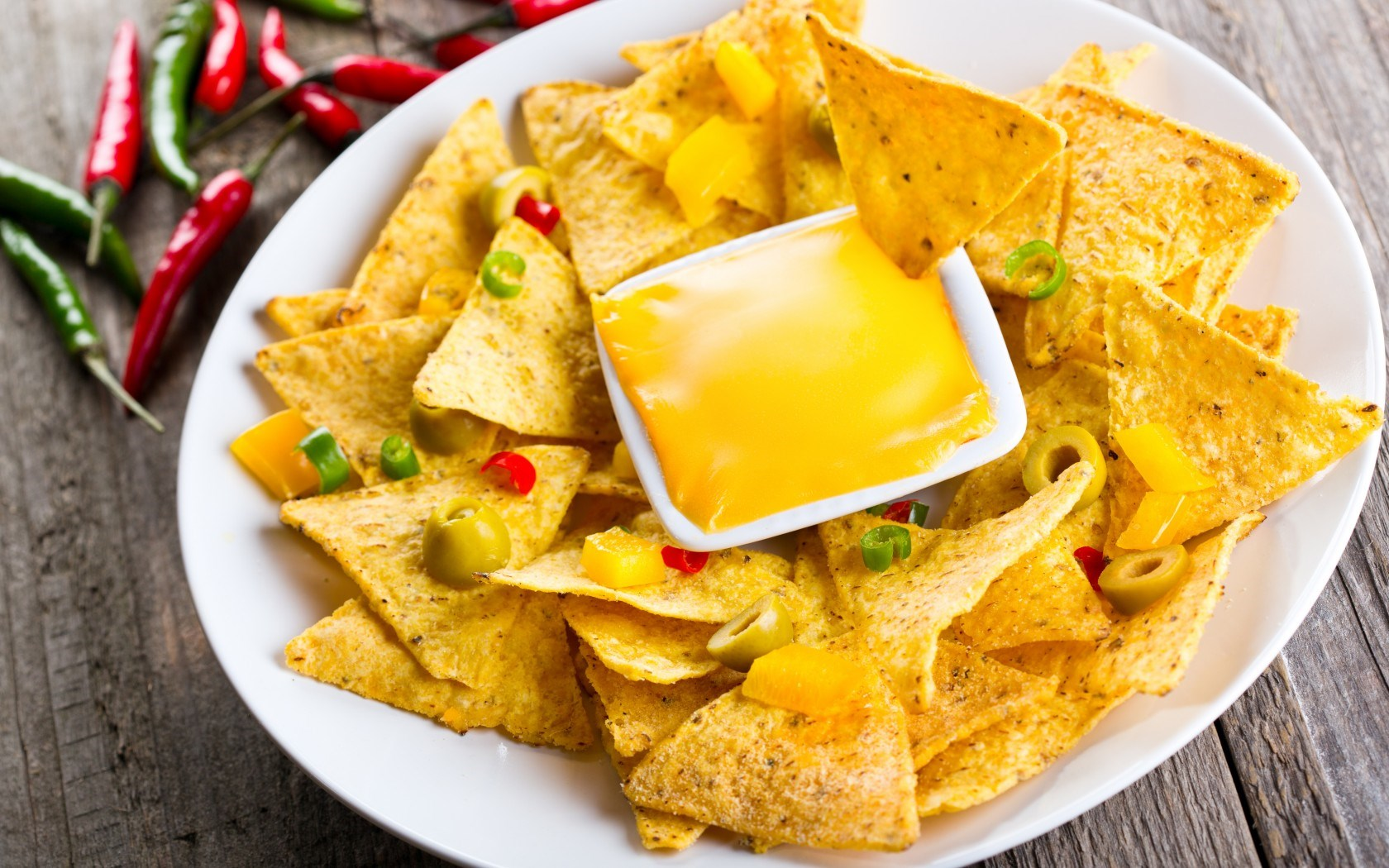 Food Mexican Chips Snacks Cheese Spices Olives