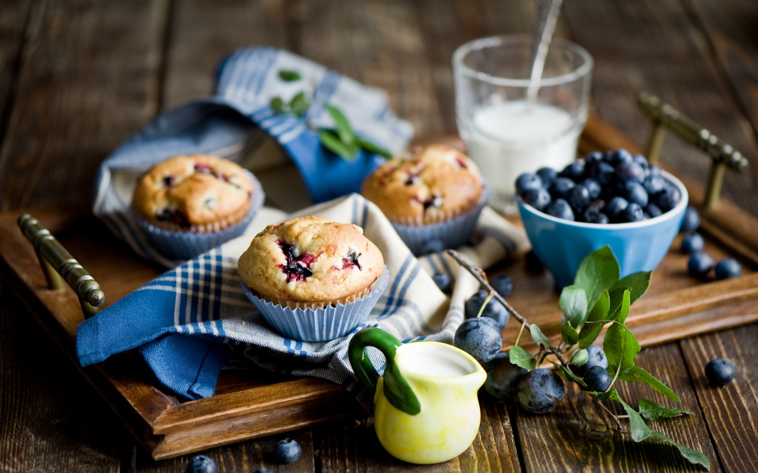 Food Muffins Blueberry Berry