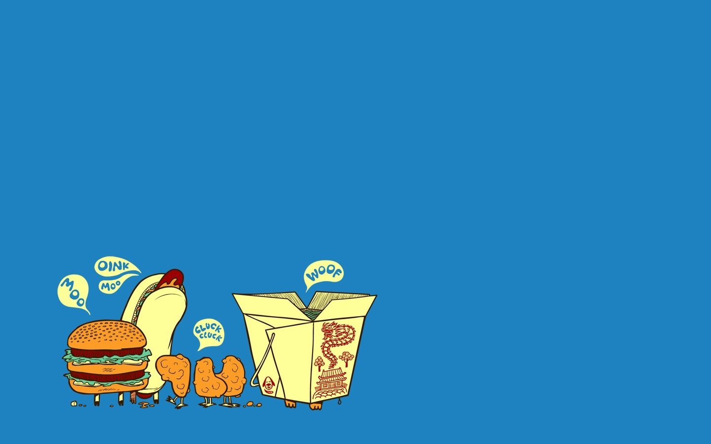 Funny Fast Food Wallpaper 1440x900