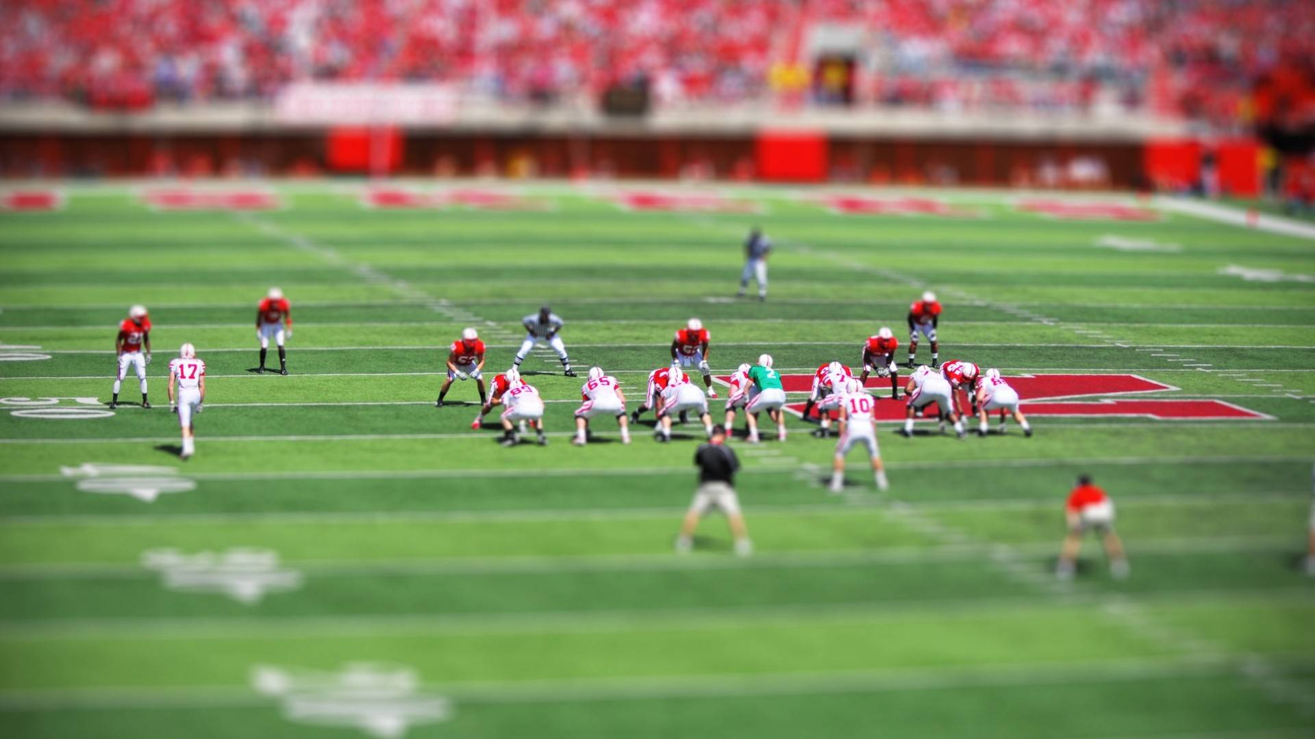 Tilt Shift Football Wallpaper