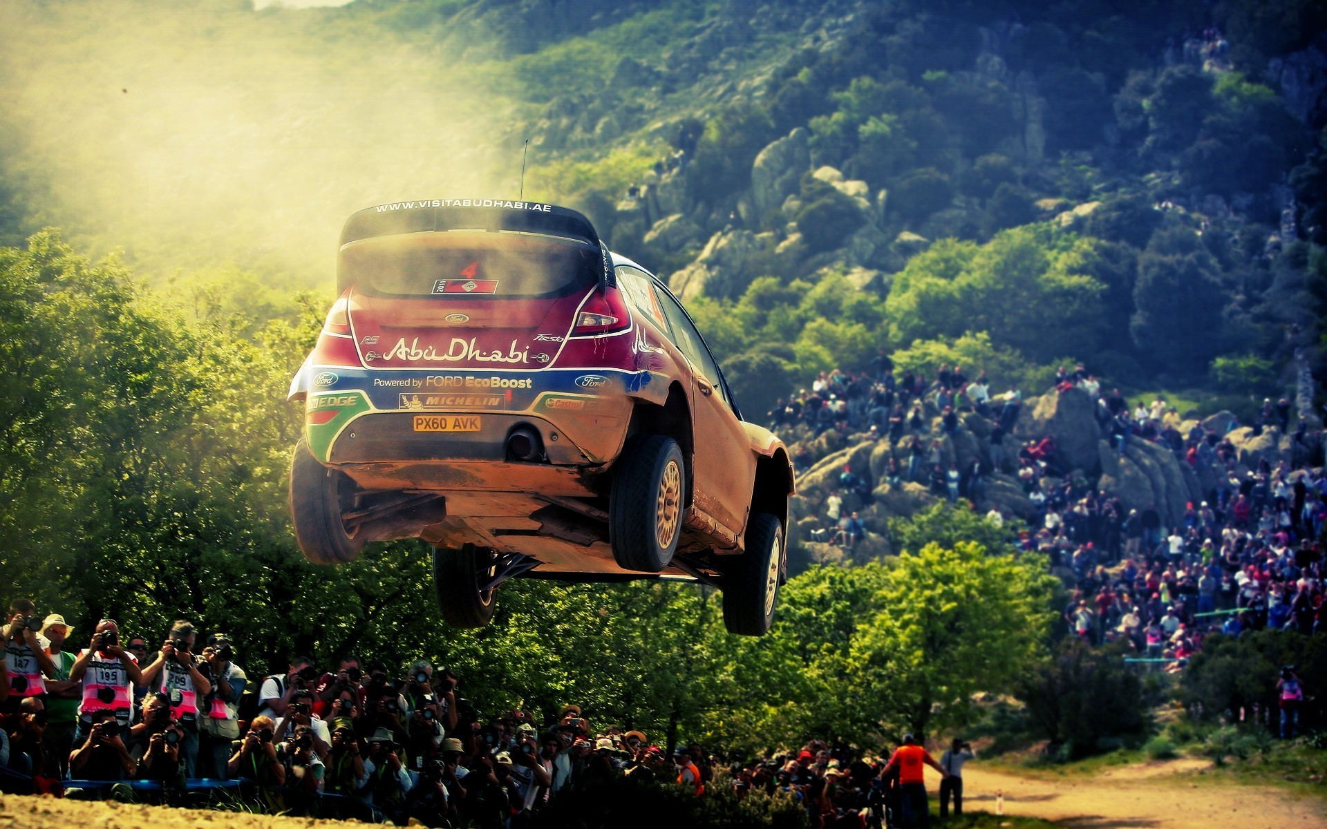 Ford fiesta wrc airborne