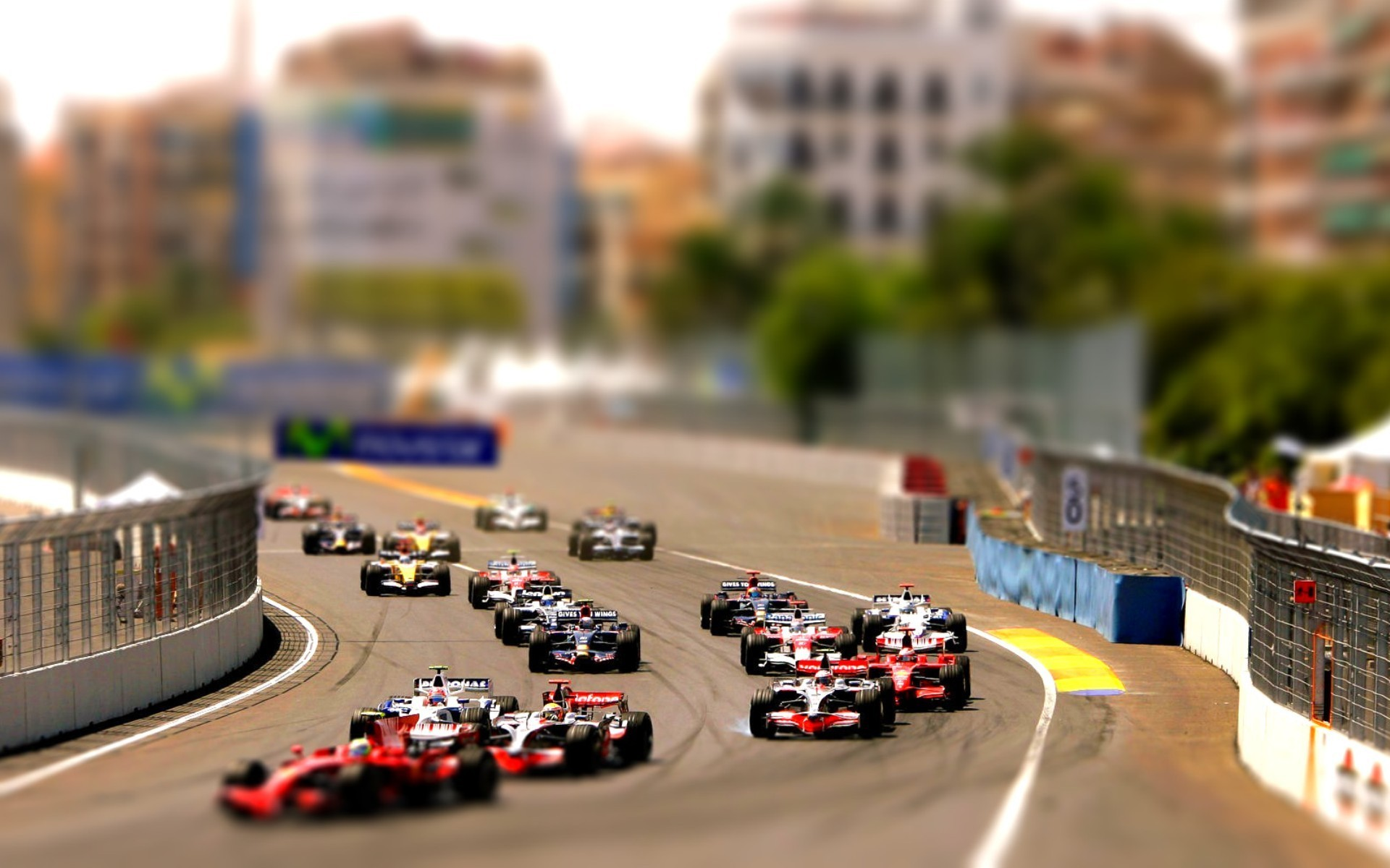 formula 1 tilt shift race