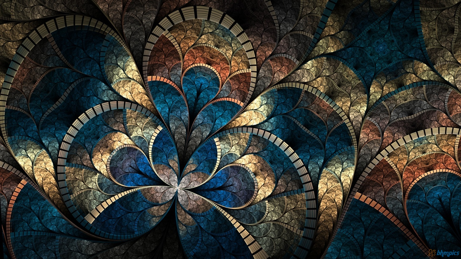 Fractal Pattern Abstract Curves