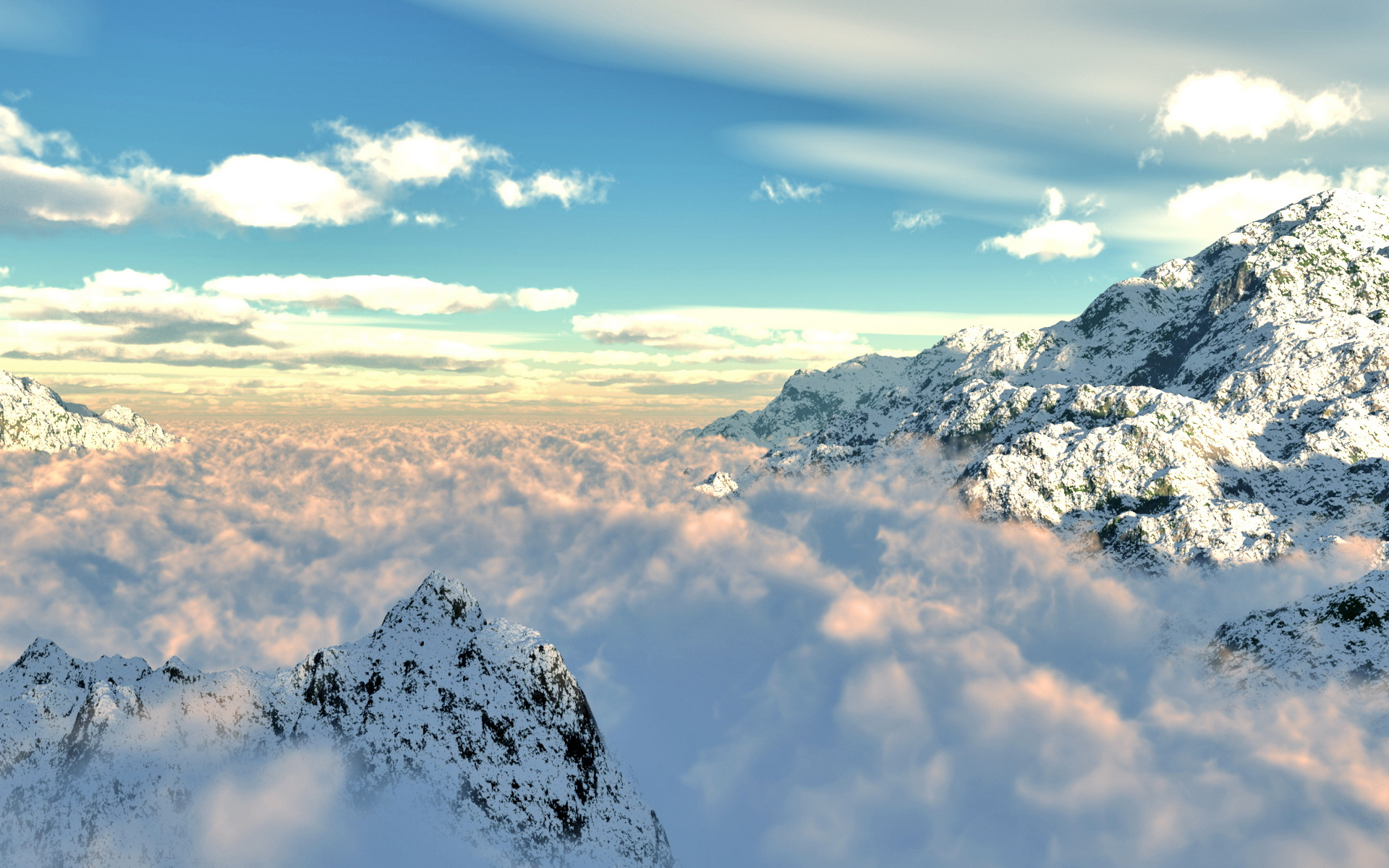 Free Above the Clouds Wallpaper