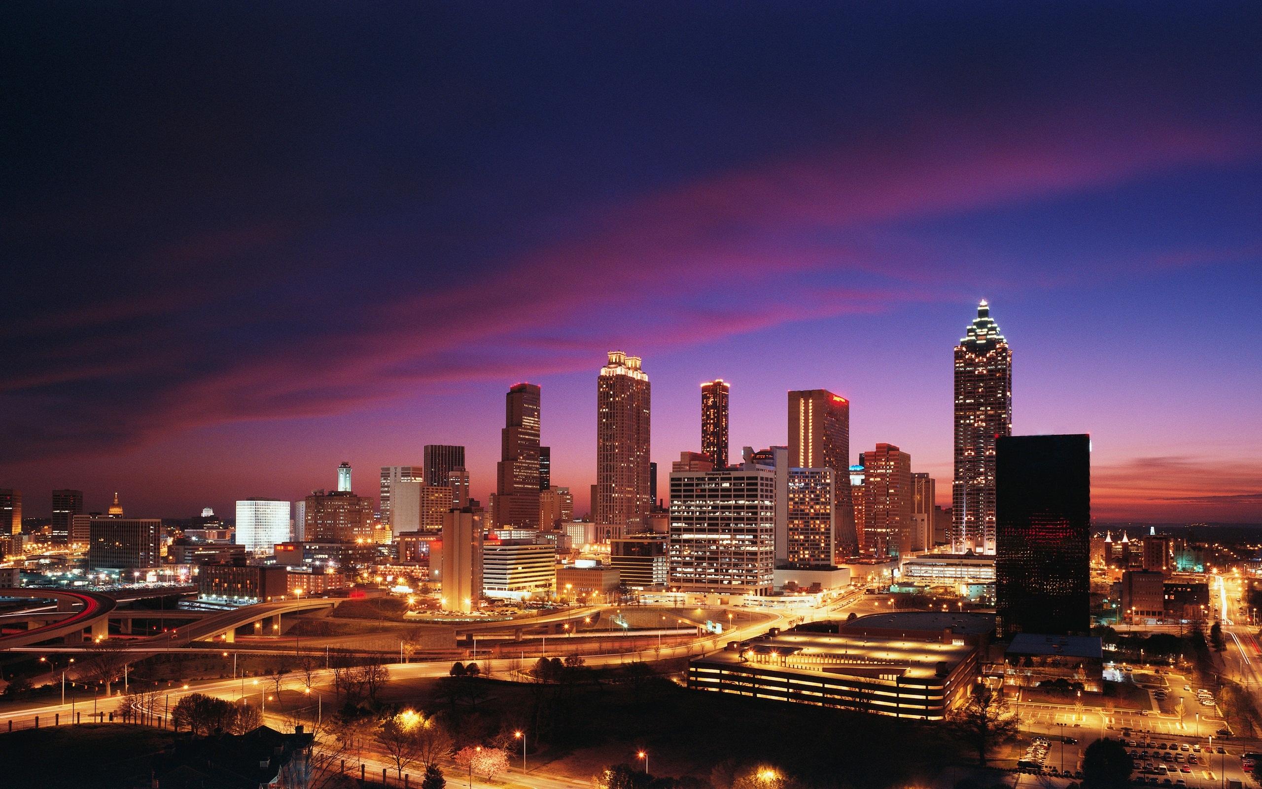 Atlanta Skyline Wallpaper: Free Atlanta City Wallpaper Images Hd Wallpapers Again 2560x1600px