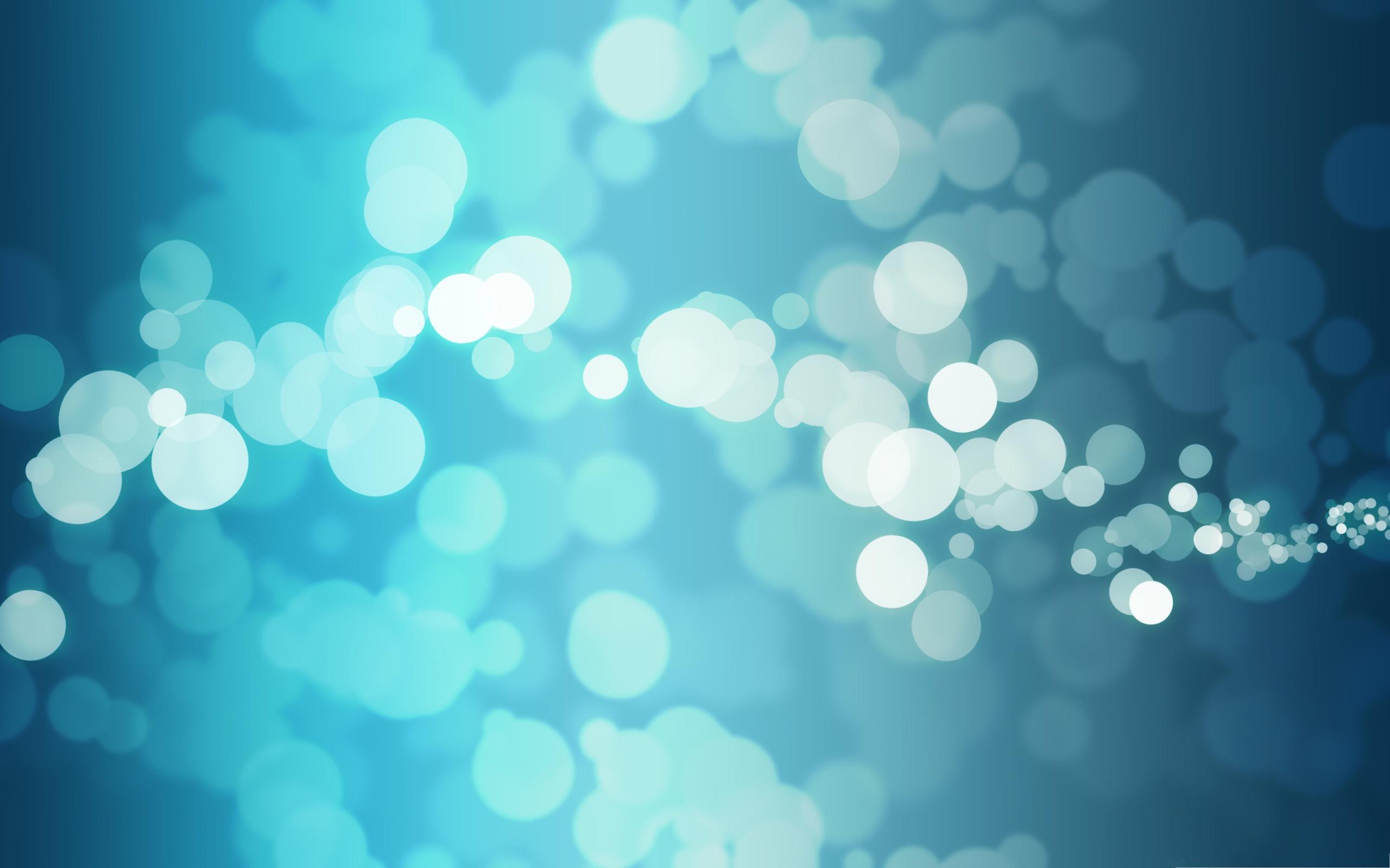 Free Blue Bubbles Wallpaper