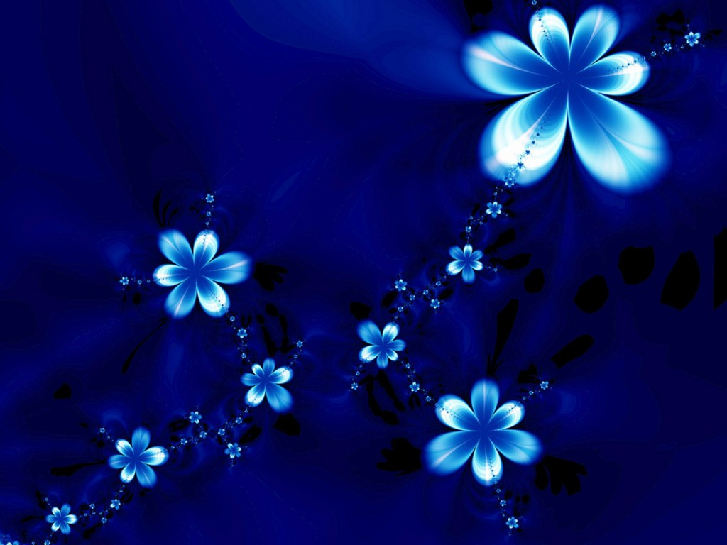 Free Blue Flowers Wallpaper