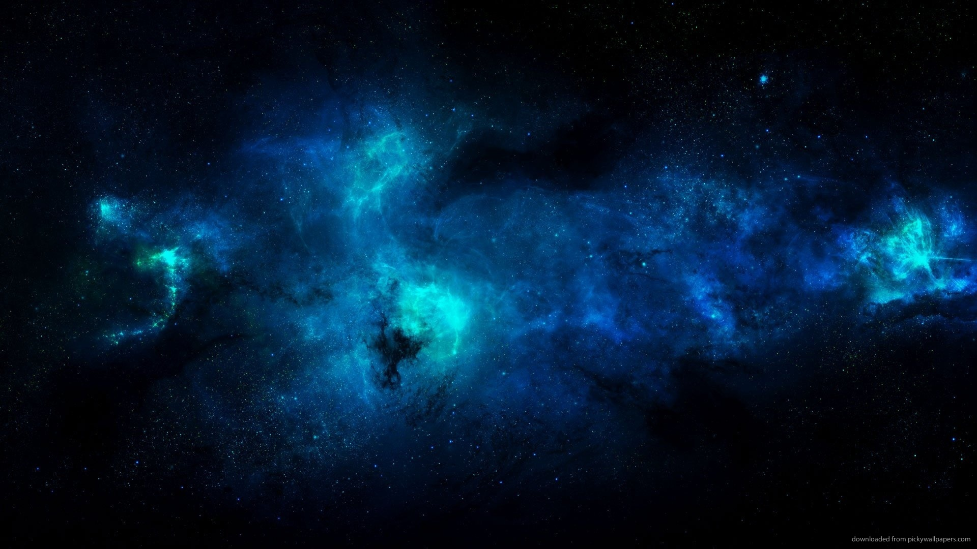 Free Blue Space Wallpaper