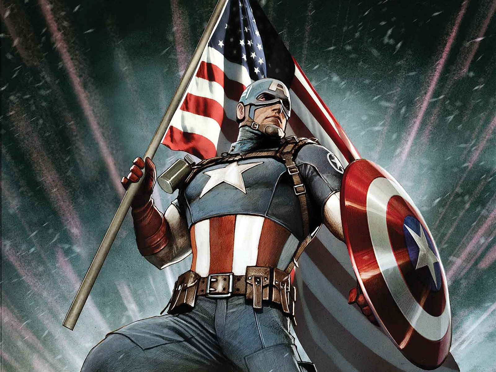 3D Captain America Hd Background Wallpaper 16 Thumb
