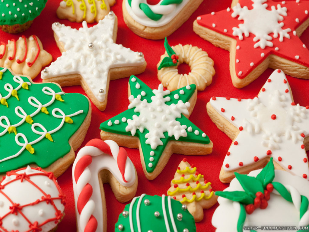 Free Christmas Cookies Wallpaper