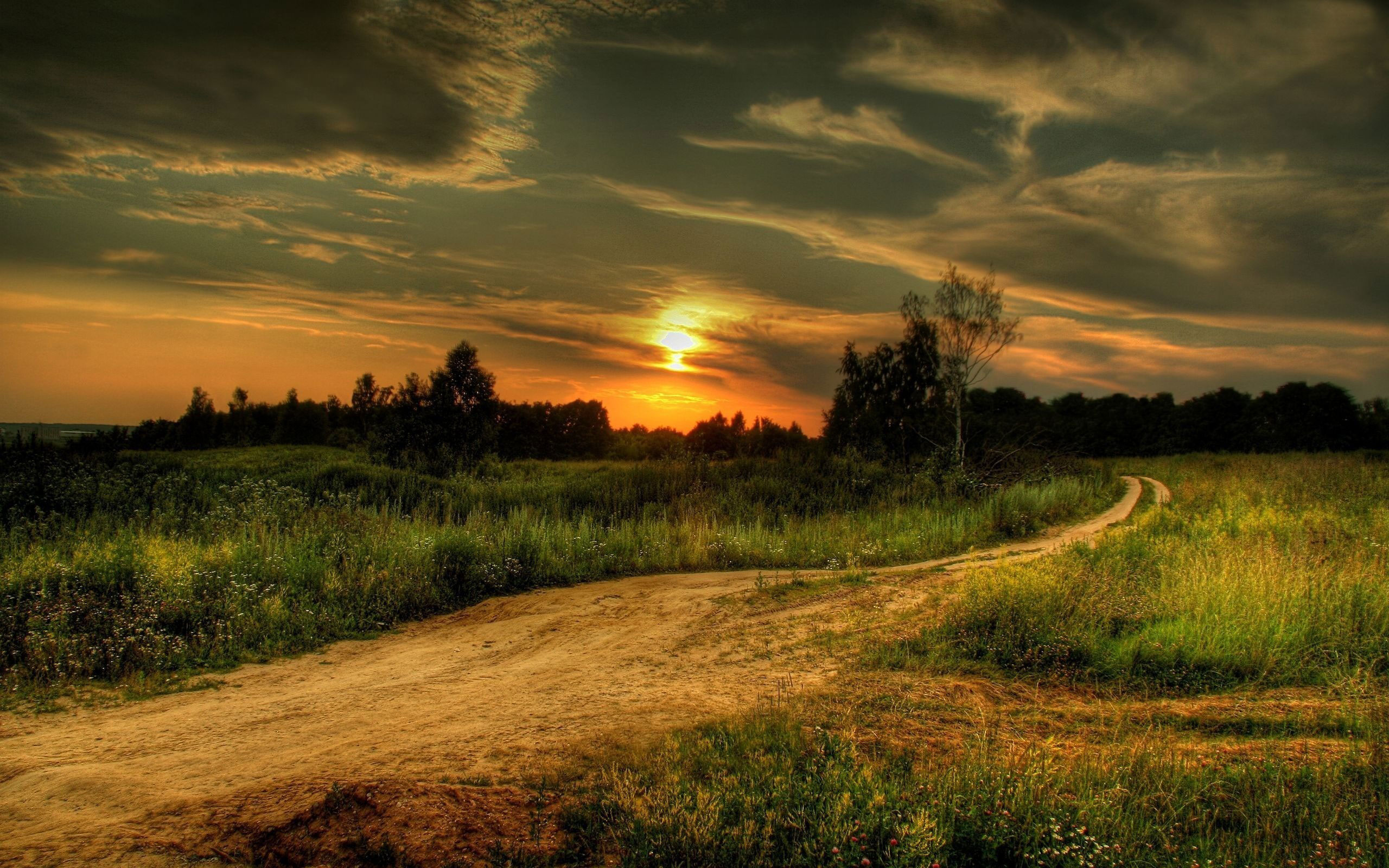 Free Country Road At Sunset, computer desktop wallpapers, pictures, images