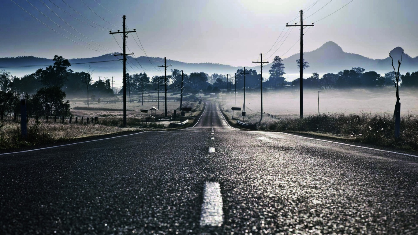Free Empty Road Wallpaper