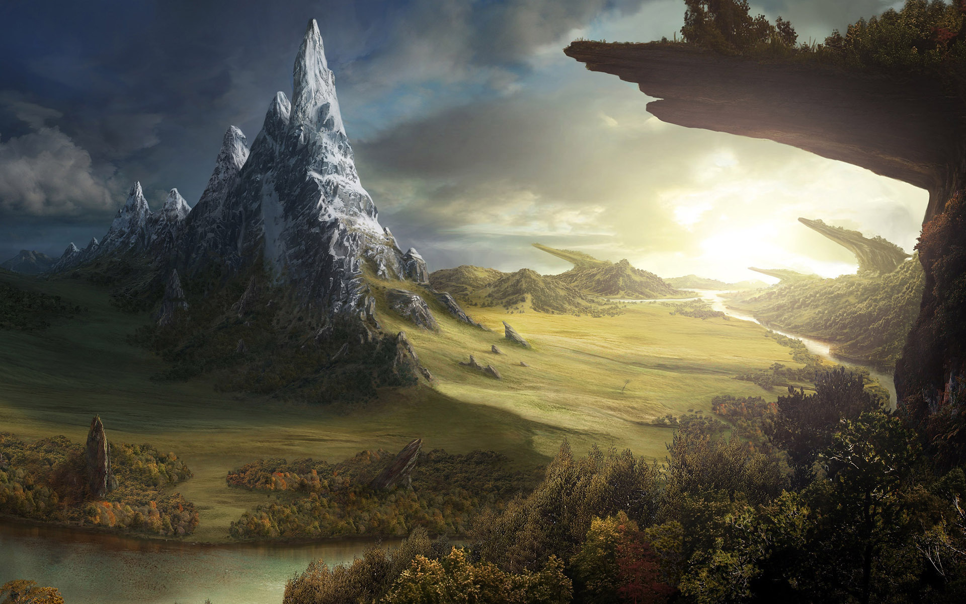 Free Fantasy World Wallpaper