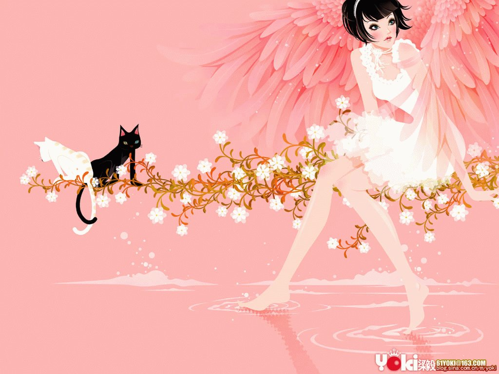 Fashion Girl Illustration Computer Wallpapers