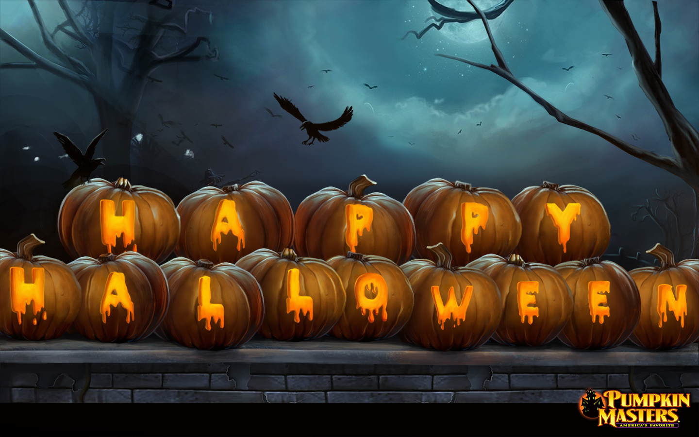 1366 x 768 · 1280 x 1024 · 1080 x 800 · 1024 x 768. Kids Haunted House Free Halloween Wallpaper