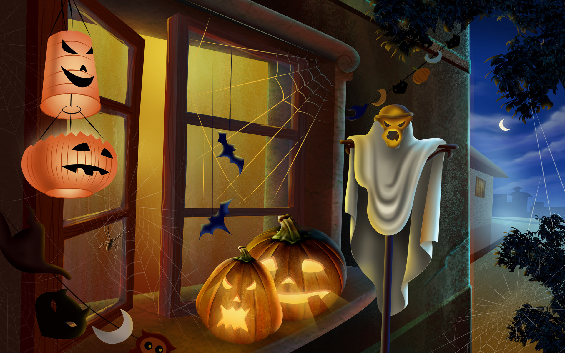 Scary-Halloween-2012-Outdoor-Decorations-HD-Wallpaper-2