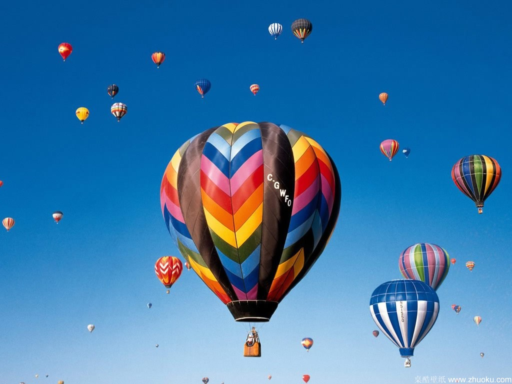 Free Hot Air Balloon Wallpaper 1024x768 7432