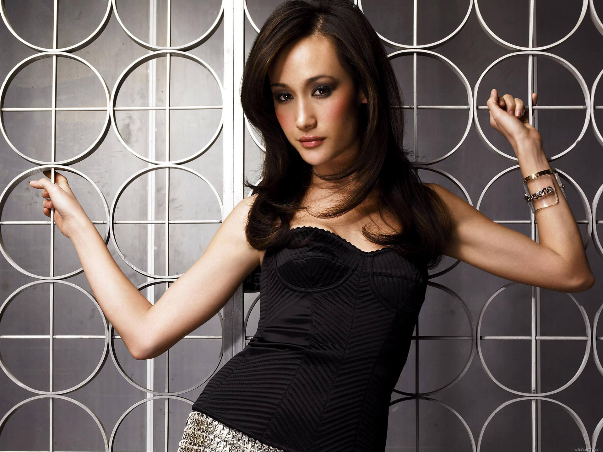Free Maggie Q Wallpaper