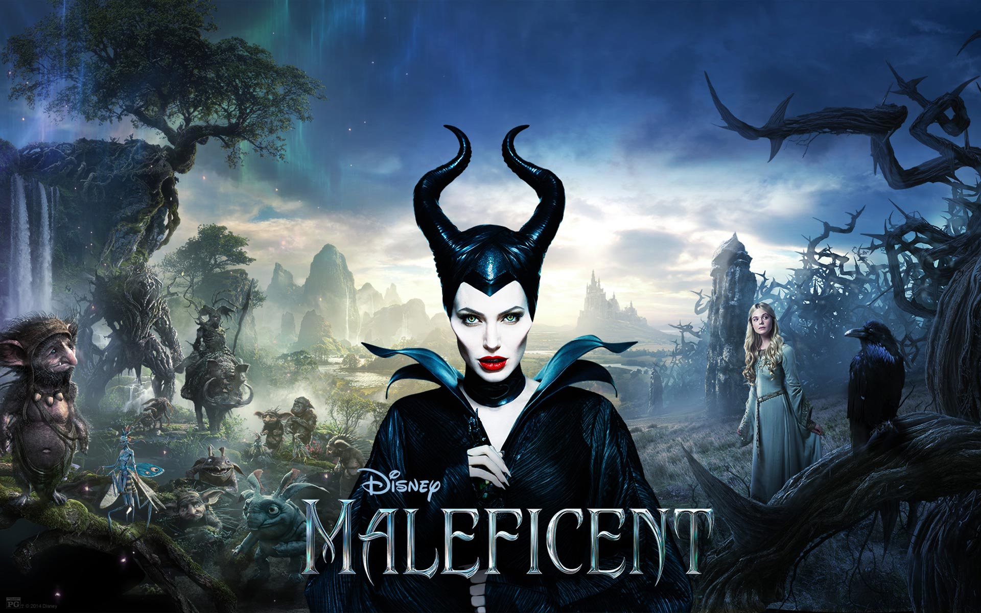 Free Maleficent Wallpaper