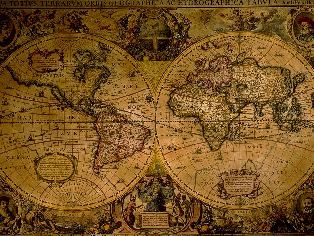 Ancient World Map Wallpaper